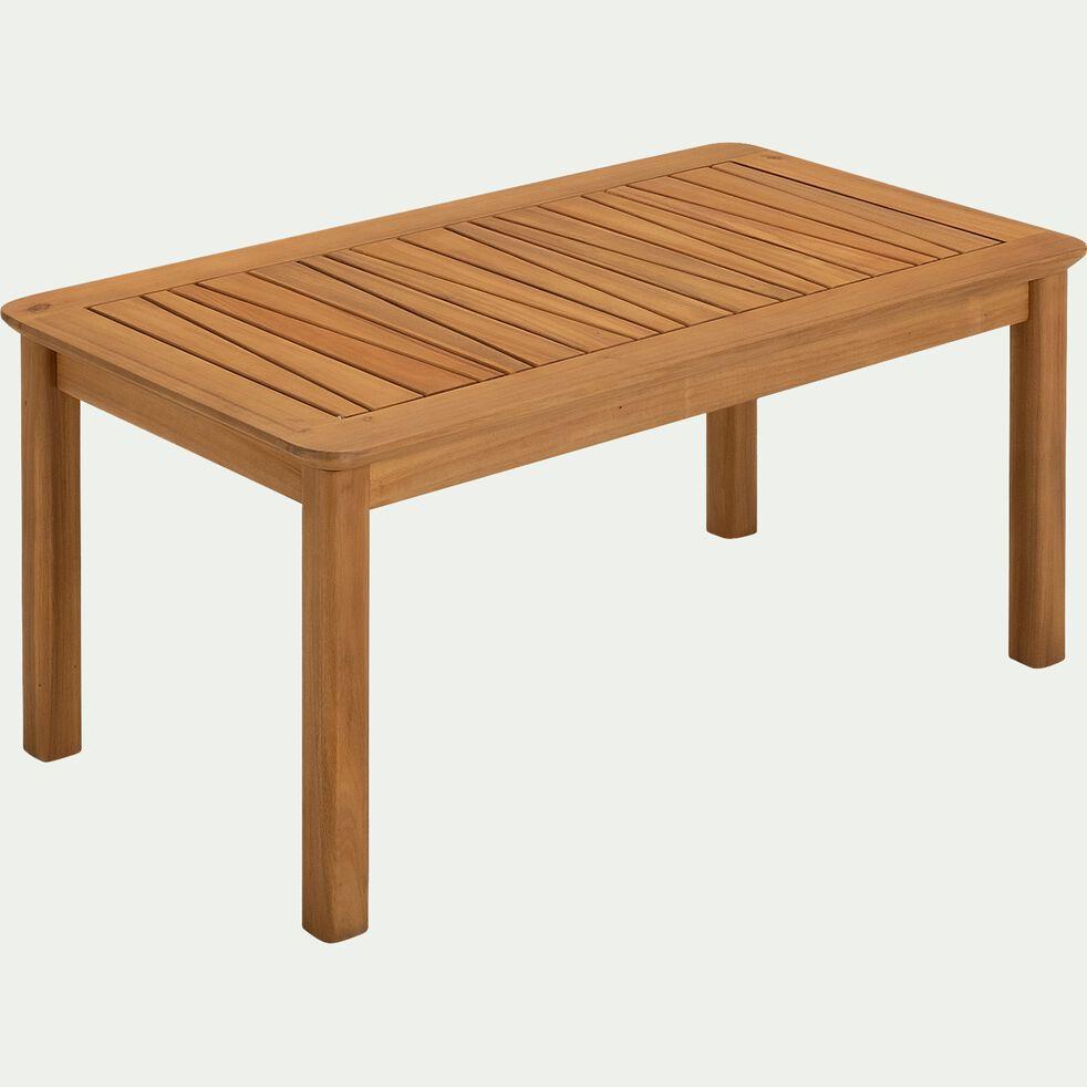 Table basse de jardin en acacia avec une finition huilée - naturel-CARLO