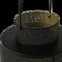 Lanterne en métal - vert - H22cm-ZACHARIE