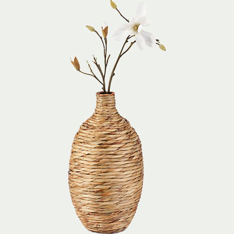 Vase tressé en jacinthe d'eau - naturel D30xH55cm-HUELVA