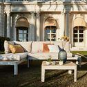 Méridienne de jardin modulable en teck - beige-Portals