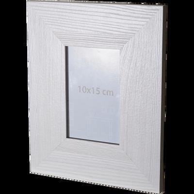 Cadre photo effet bois blanchi 10x15cm-VERA