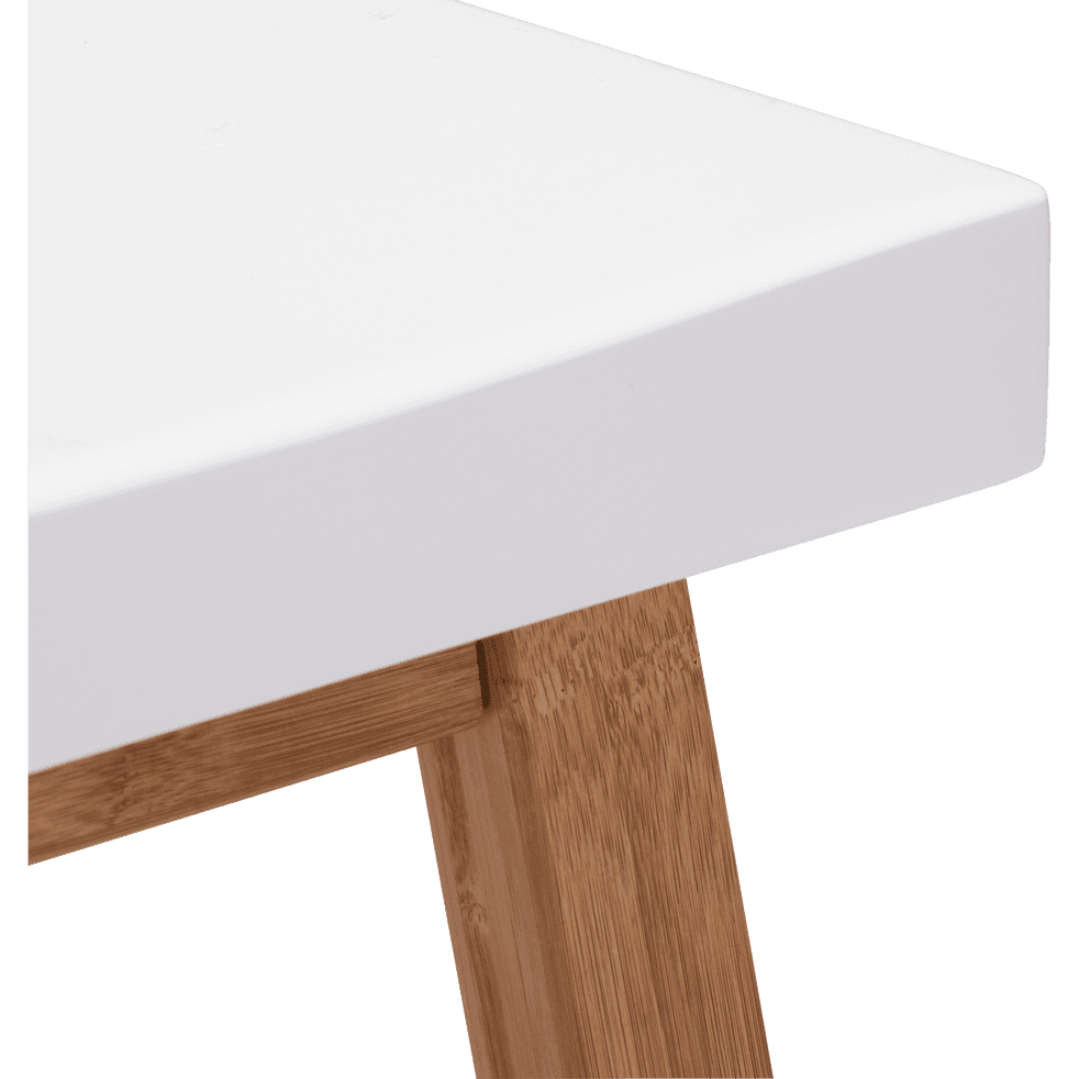 tabouret bicolore bois et blanc h60cm buluh tabourets fixes hauteur plan de travail alinea. Black Bedroom Furniture Sets. Home Design Ideas