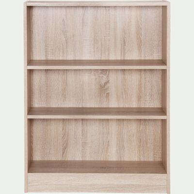 Bibliothèque en bois 3 tablettes - bois clair L79cm-Biala