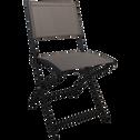 Chaise de jardin pliante gris moyen en polyester-LEMON