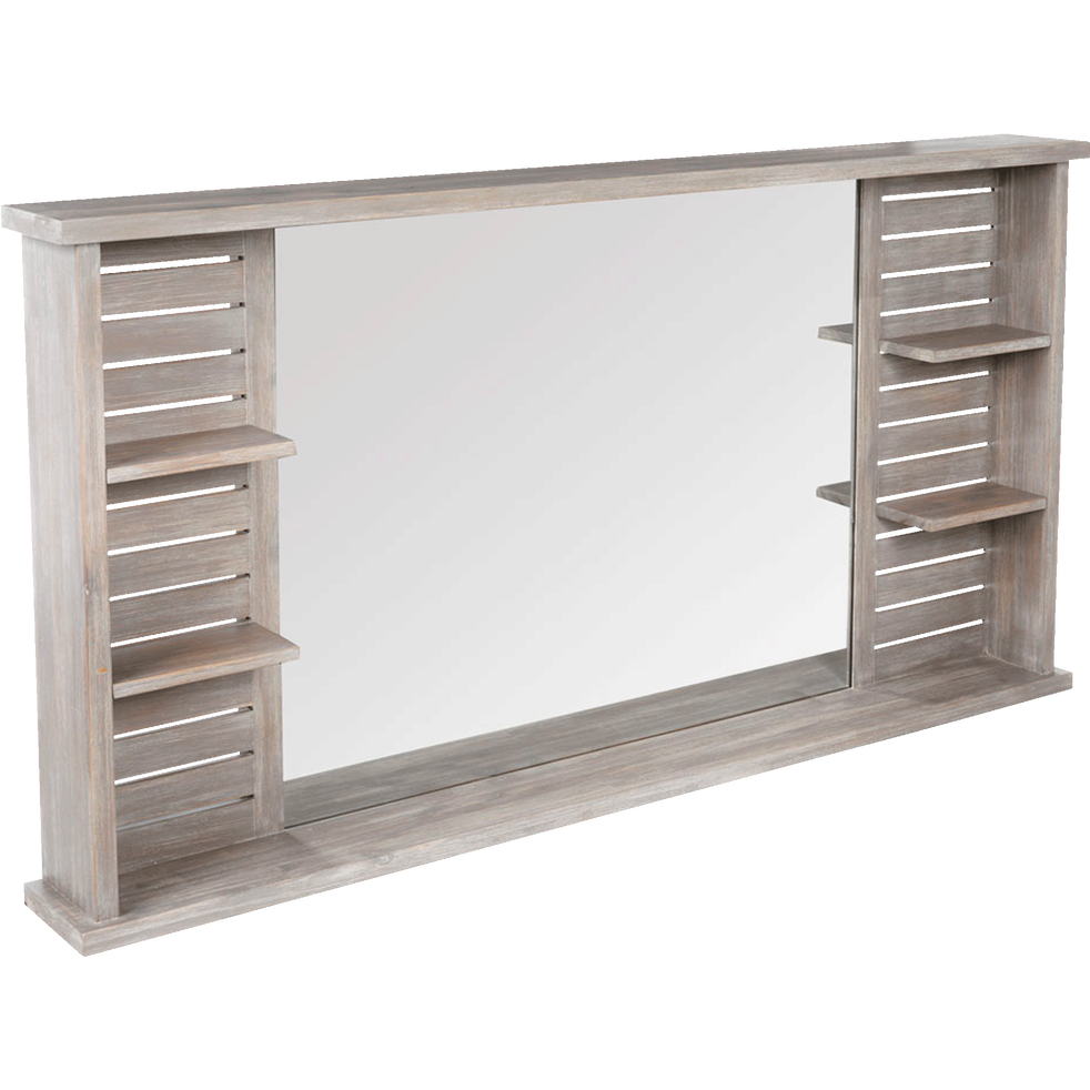 miroir rectangulaire de salle de bains avec tablettes en. Black Bedroom Furniture Sets. Home Design Ideas
