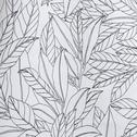 Nappe en coton blanc à motifs feuilles de laurier 140x250cm-LAURIER