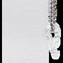 Store enrouleur voile blanc 100x250cm-VOILE