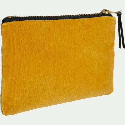 Pochette en coton - jaune 10,5x16,5cm-HANOI