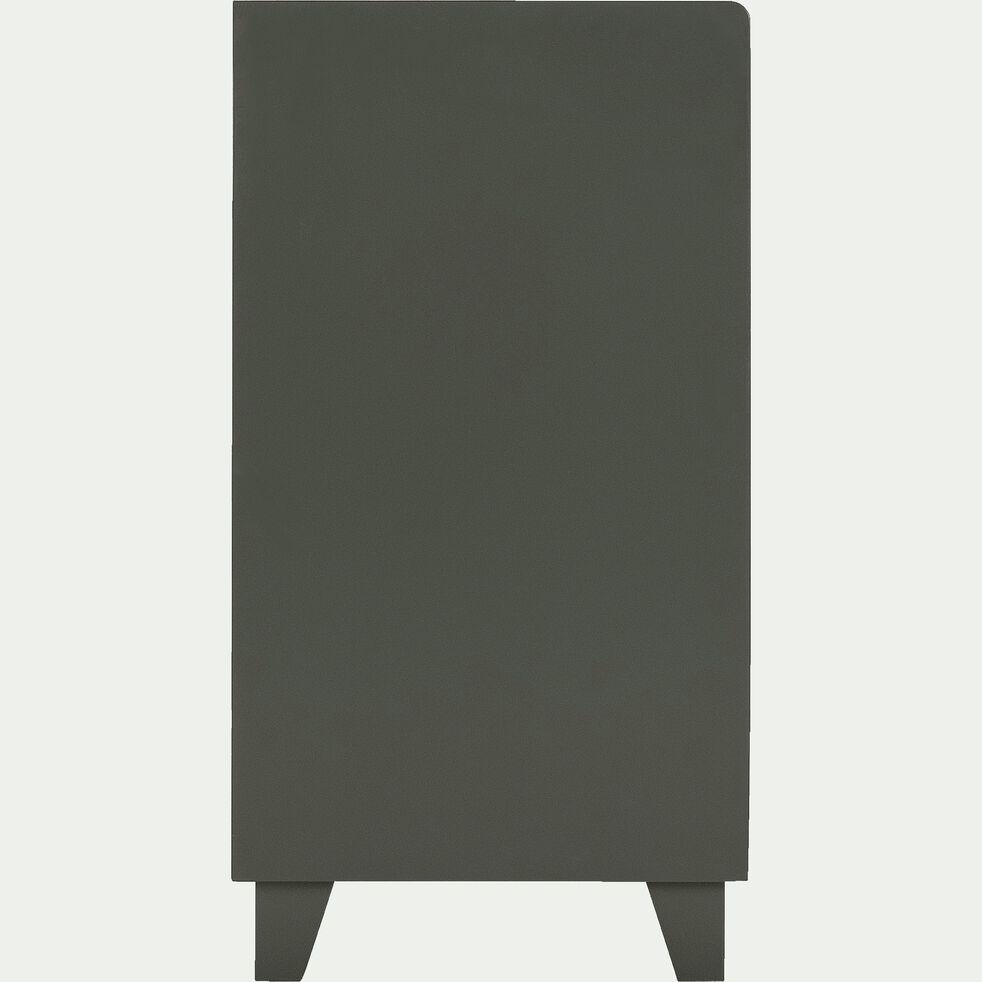 Commode 5 tiroirs et 1 étagère vert cèdre-ROMARIN