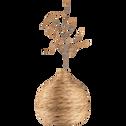 Vase en jacinthe H43cm-ABBO