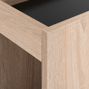 Tête de lit 100cm noir et effet chêne blanchi-BALME