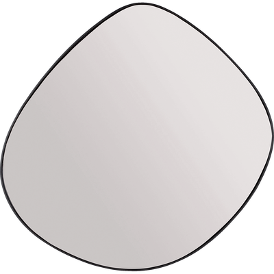 Miroir en métal noir 71,5x70,5cm-Honnorée