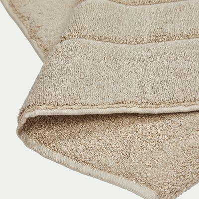 Tapis de bain en coton - beige 50x80cm-AZUR
