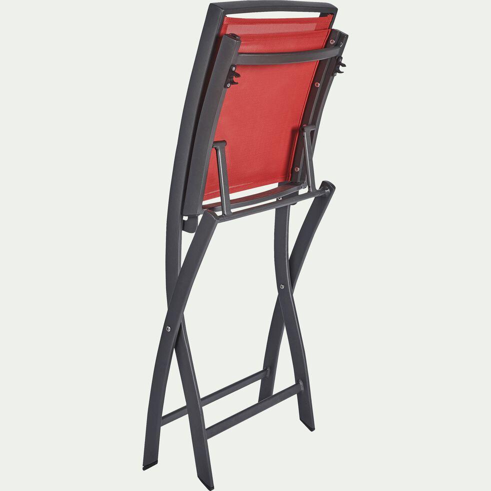 Chaise de jardin pliante rouge-LARIO