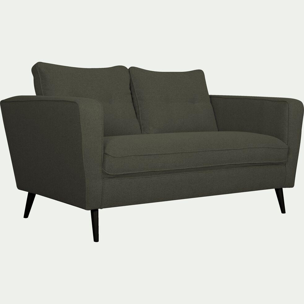 Canapé fixe 2 places en tissu - gris vesuve-BARTHOLE