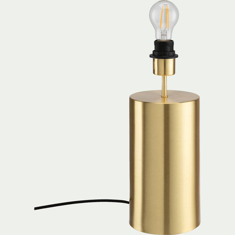 Pied de lampe en acier - doré D14xH36cm-AGATHA