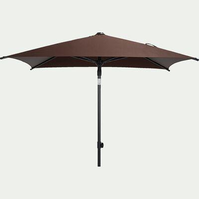 Parasol de balcon avec mât inclinable - brun rhassoul (160x200cm)-Pitchoun