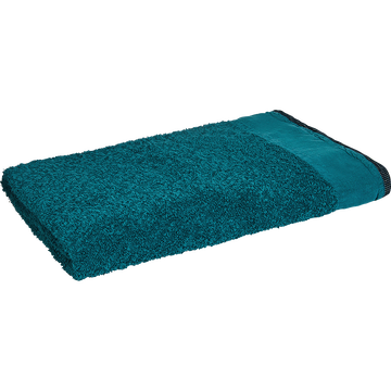 Drap de bain coton et lin 100X150cm bleu niolon-ADONI