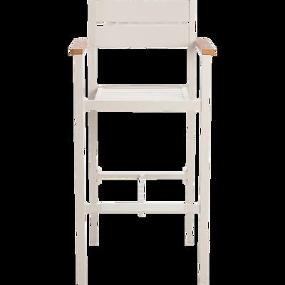 Chaise de bar en métal gris clair-ALEP