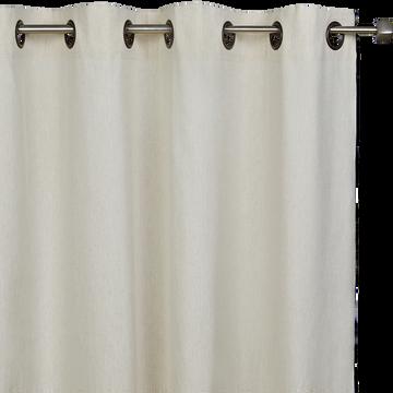 Rideau en coton Blanc et noir 140x250 cm-LINIA