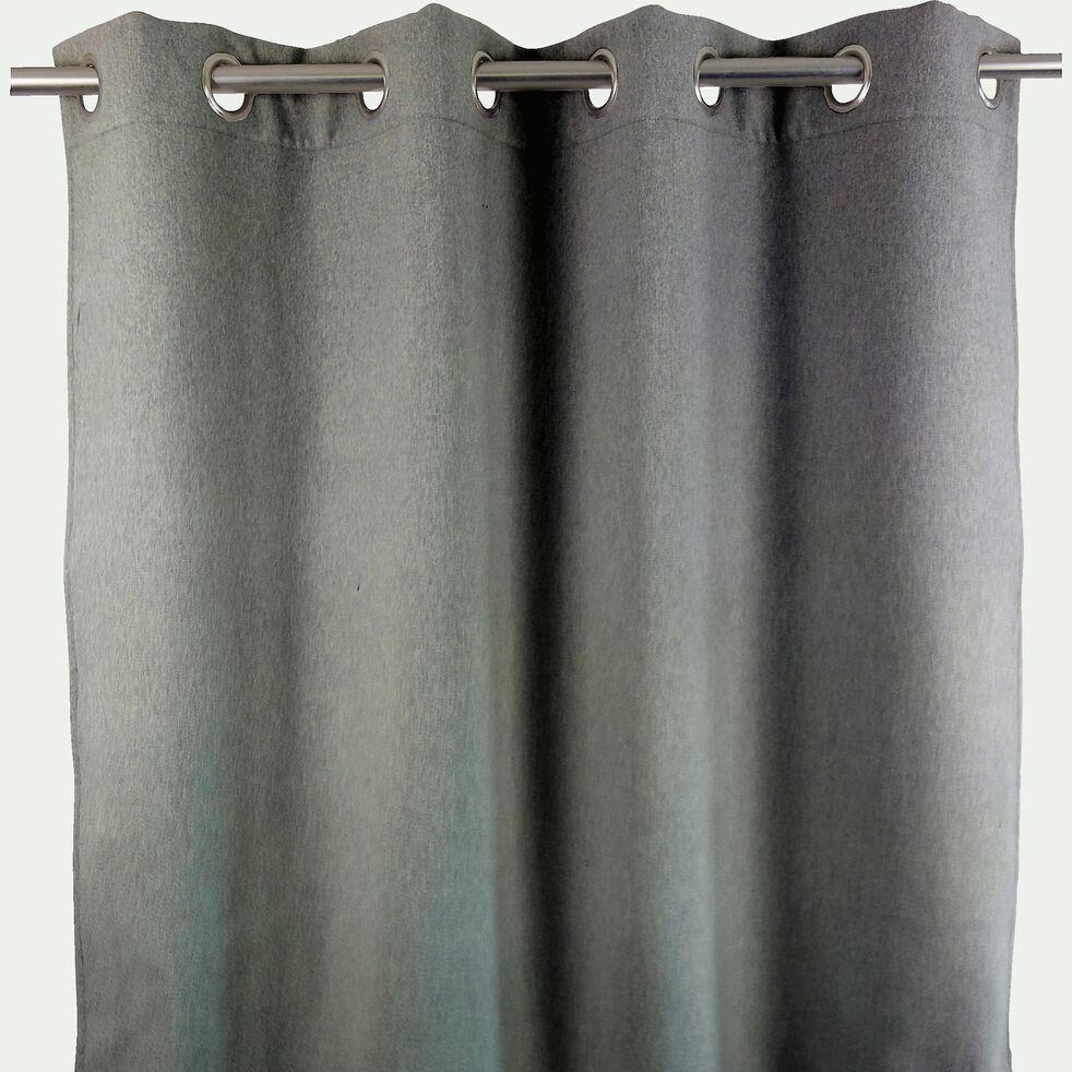 Rideau occultant à œillets en polyester - gris 140x260cm-OTAWA