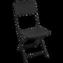 Chaise de jardin pliante noire en acier-HOLY