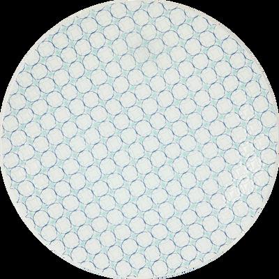Assiette à dessert en grès bleu D21cm-MOUCHA