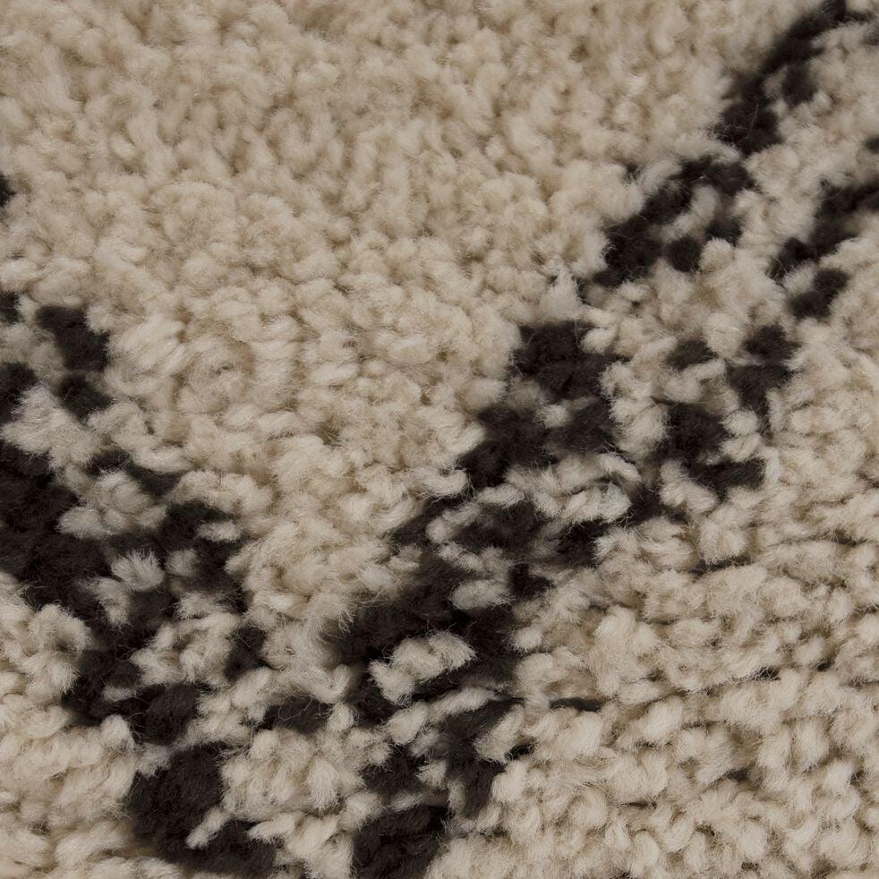 Tapis à franges inspiration berbère - blanc écru 200x290cm-ALINE