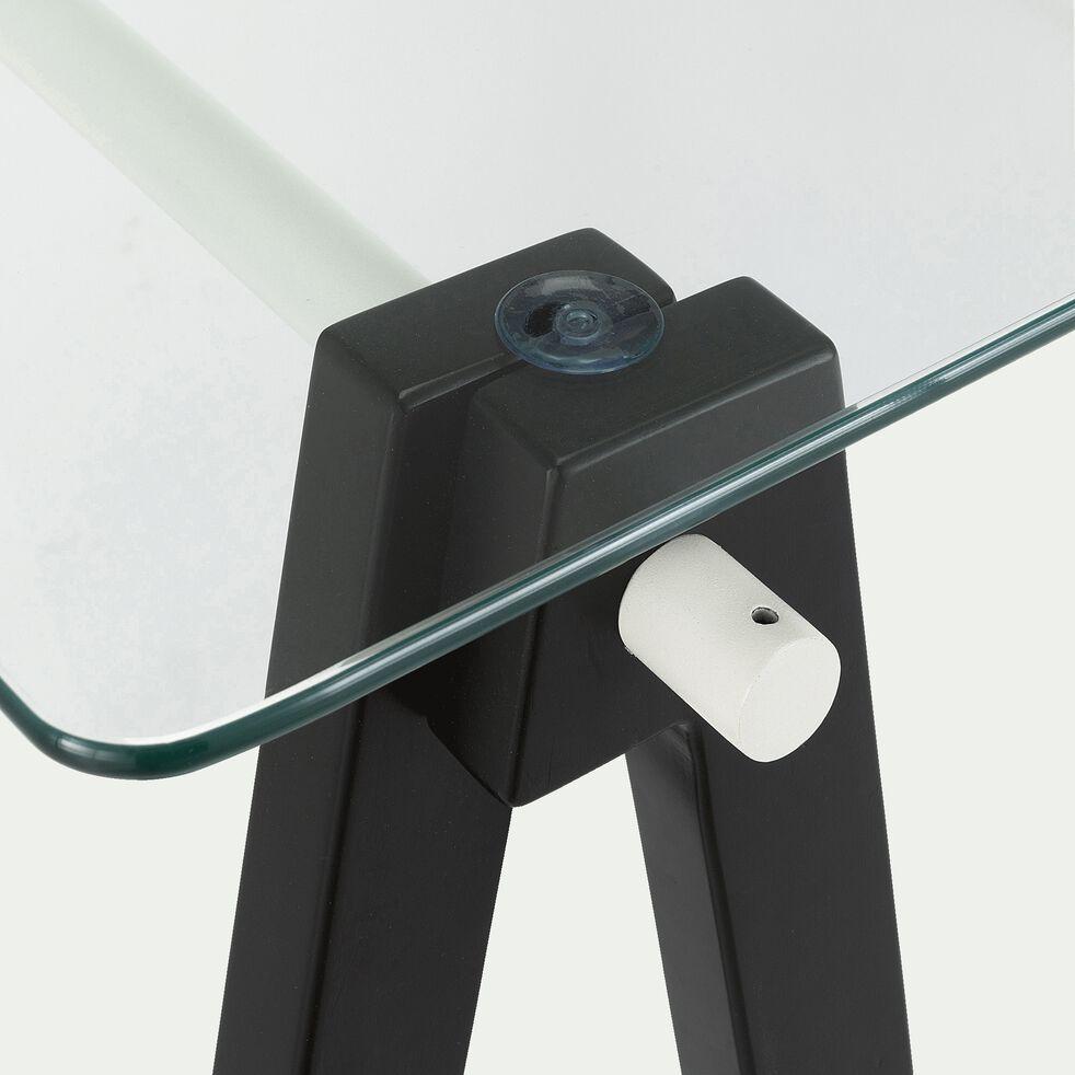 Lot de 4 barres pour former un tréteau de bureau composable - noir-PUNCIA