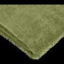 Drap de bain 100x150cm vert olivier-AMBIN