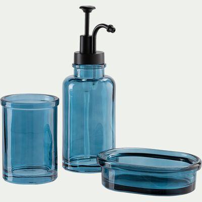 Porte-savon en verre - bleu niolon-MIMOSA