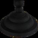 Bougeoir en métal noir H26cm-Noiro