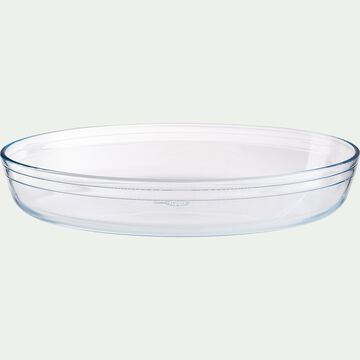 Plat ovale en verre borosilicate 35x24cm-AZET