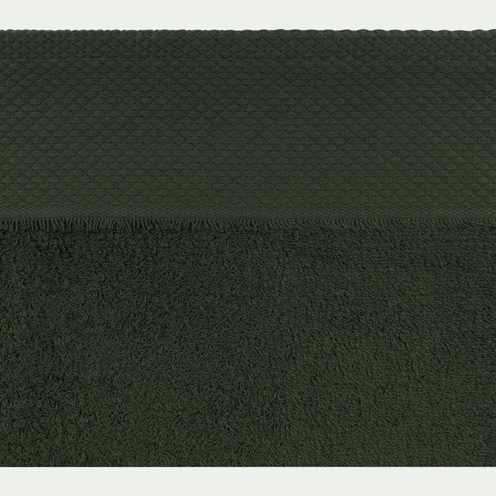 Serviette de toilette en coton peigné - vert cèdre 50x100cm-AZUR