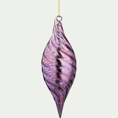 Décoration à suspendre en verre violet H16,5cm-BABINSKI