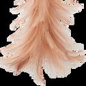 Décoration à suspendre en plume rose H16cm-DIEN