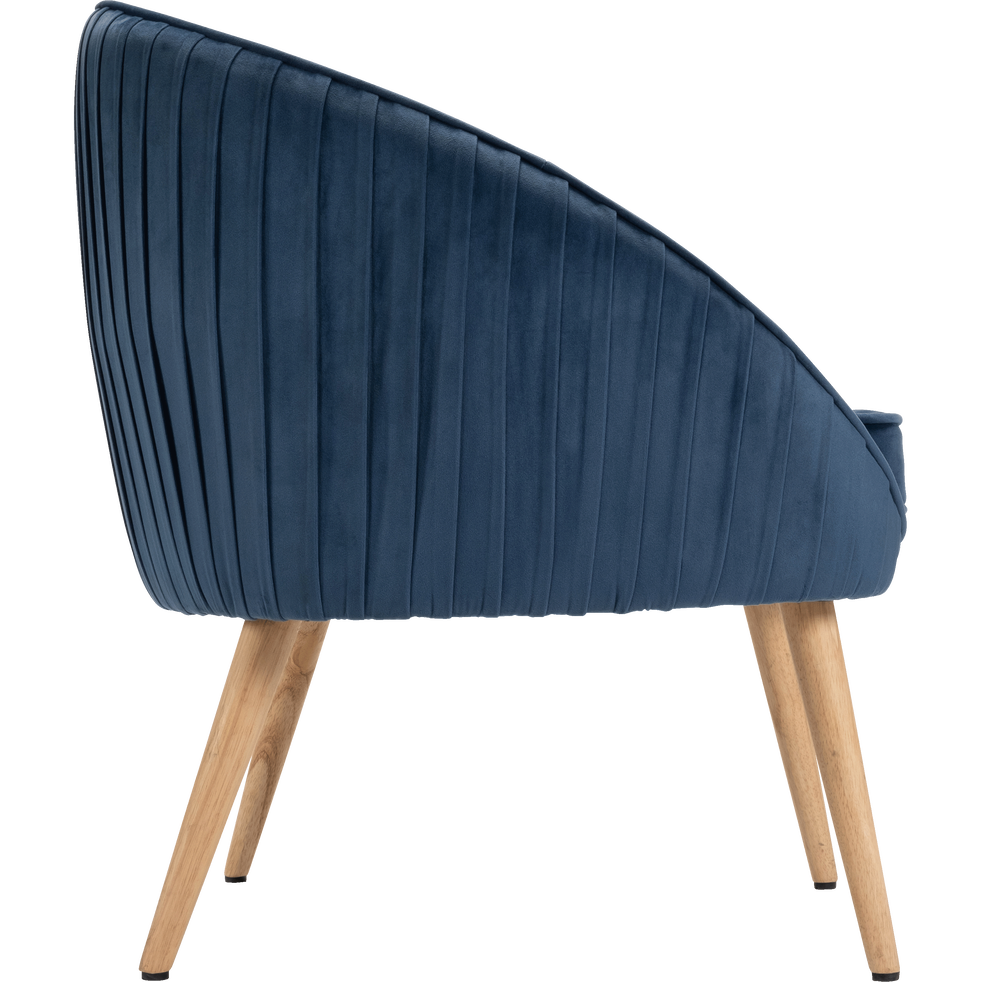 Fauteuil en velours bleu figuerolles-PÔME