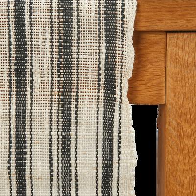 Chemin de table en ramie noir 150x45cm-ABOU