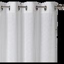 Voilage en coton blanc à motif floral 140x250cm-JASMIN