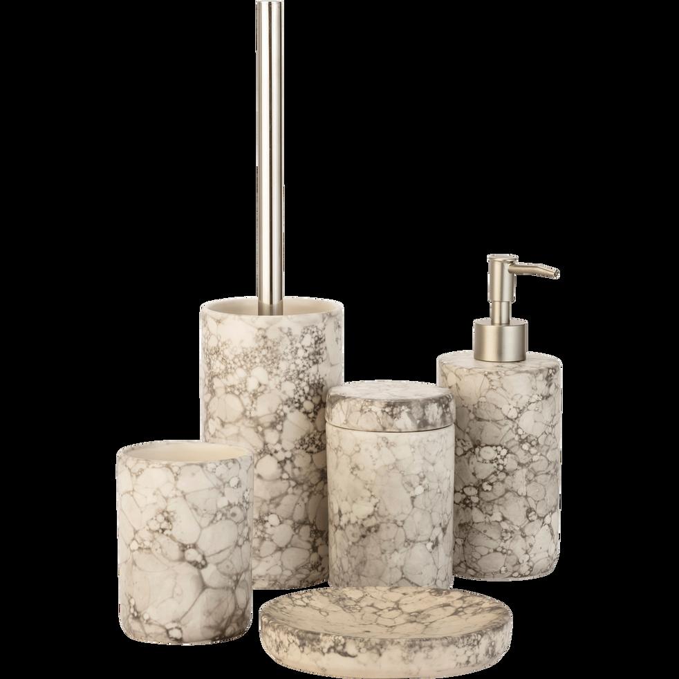 Porte-savon en céramique Blanc nervuré-Hanoï