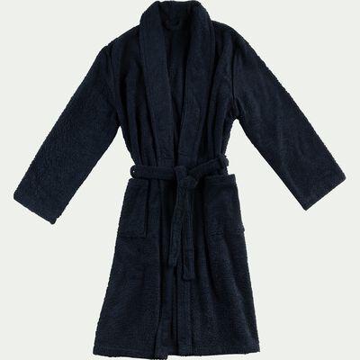 Peignoir en coton et polyester - bleu calabrun L/XL-AZUR
