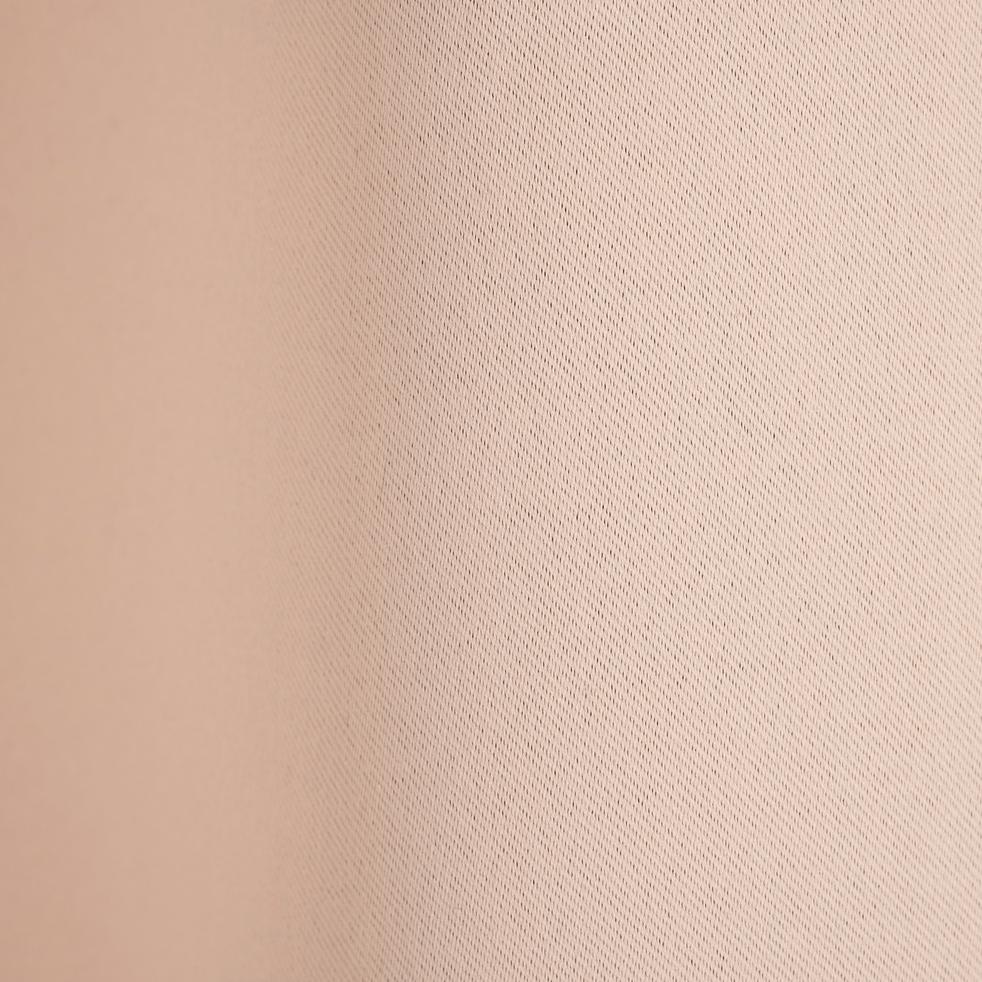 Rideau occultant à oeillets sable rosé 140x250 cm-GORDES