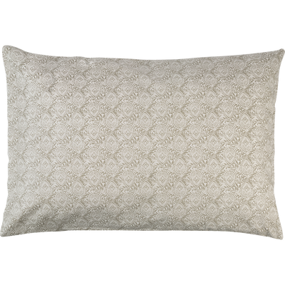 Lot de 2 taies d'oreiller en coton motif Amande - rectangle 50x70 cm-CIGALO