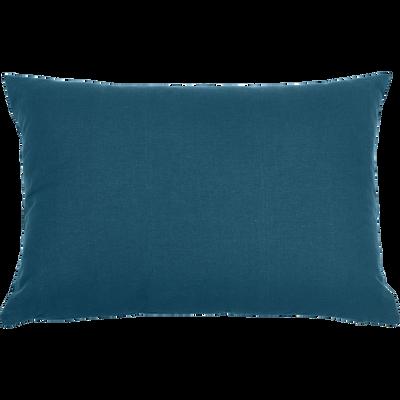 Coussin en coton bleu figuerolles 40x60cm-CALANQUES
