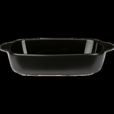 Plat à four rectangulaire en grès noir L22cm-MIOU