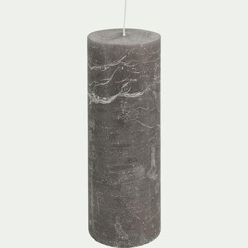 Bougie cylindrique - D7xH19cm gris restanque-BEJAIA