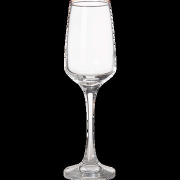 Flûte à champagne en verre 23cl-Lal