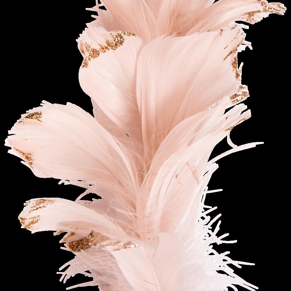 Guirlande De Noel En Plume Rose Pale L150cm Dao Deco Alinea
