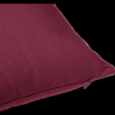 Coussin de sol en coton rouge sumac 70x70cm-CALANQUES
