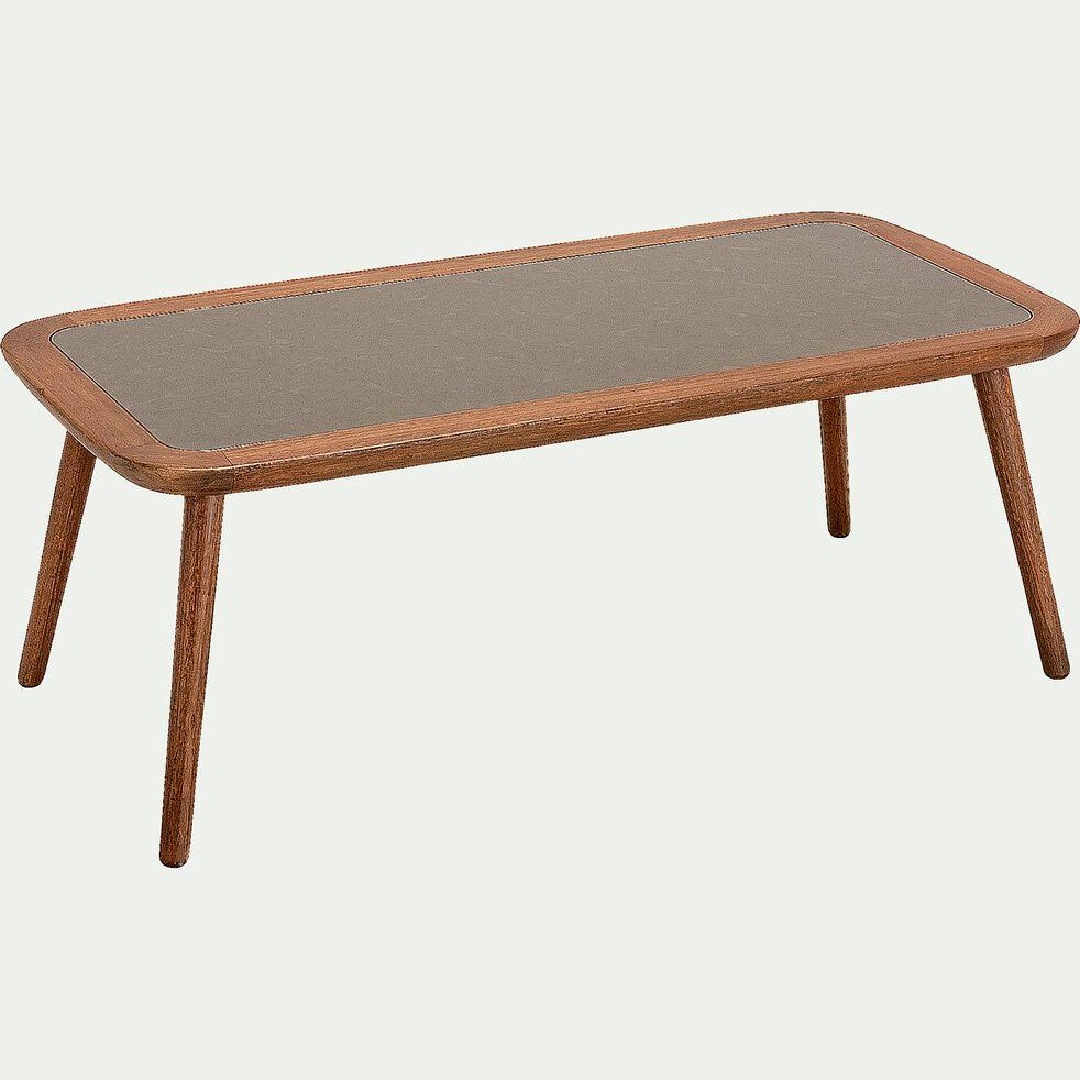 Table basse de jardin en eucalyptus - naturel (L120xl60)-NANS